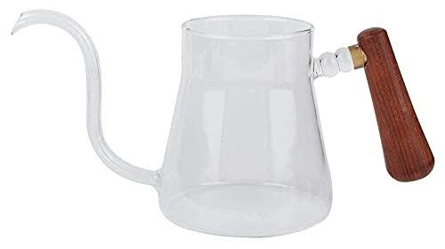 Playa Kettle Tea Vierta sobre Kettle Coffee Glass Dripper 350ml para el hogar (Color : Clear, Size : 9.3x6.9x10.7cm)