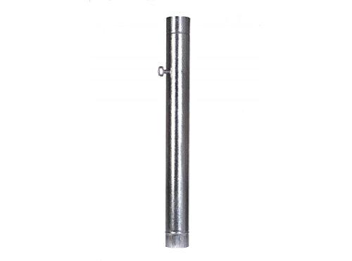 Theca 7500053 Tubo acero chapa galvanizada con llave, largo 1000 mm, 100 mm, espesor 0.5 mm