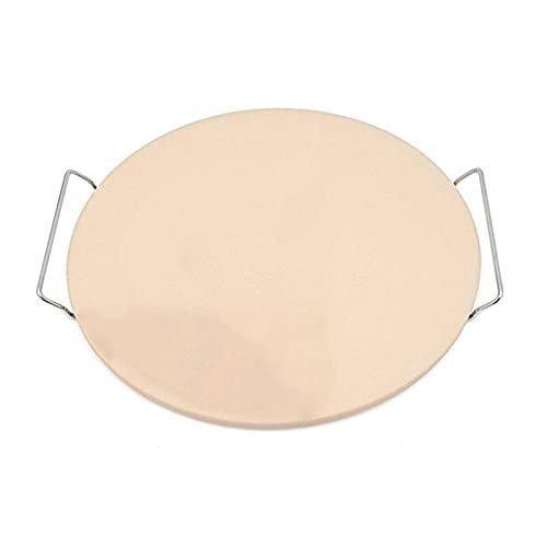 Bandeja Para Pizza,Plato De Pizza Píncasas de pizza, bandeja de pizza de alta temperatura con estante de alambre, cuchillo de pizza con mango, 33 cm de diámetro Pizza losa (Color : 1)