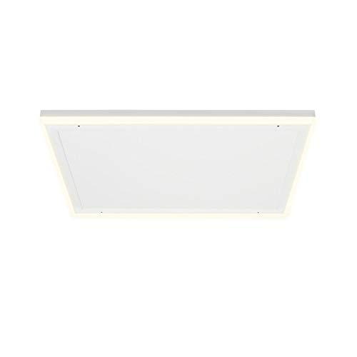 Klarstein Midnight Sun Decken - Infrarotheizung, LED-Dekobeleuchtung, warmweiße & kaltweiße Lichtfarbe, Überhitzungsschutz, Thermostat, Wochentimer, 70,5 x 70,5 cm, 350 Watt, weiß