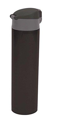 Culinario Thermoflasche mit klick-Deckel, aus Edelstahl/Kunststoff, doppelwandig, trendiges Design, ca. 0,45 Liter, in braun