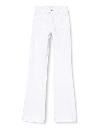 Wrangler Flare Jeans, Optic White 13l, 28W x 32L para Mujer