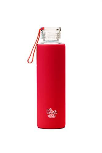 Irisana BBO Botella con Funda, Rojo, 550 ml