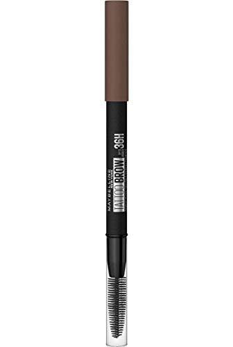 Maybelline New York Tattoo Brow 36H Nr. 5 Medium Brown, Augenbrauenstift, hält bis zu 36H, wasserfest, mit integrierter Bürste