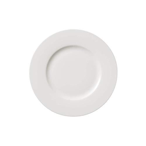 Villeroy & Boch Twist White Plato de Desayuno, 21 cm, Porcelana Premium, Blanco