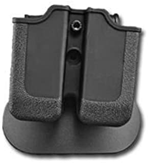 MAGNUM BABY EAGLE (9/40) Double Paddle Mag Pouch Black Rotates 360 degrees durable polymer made