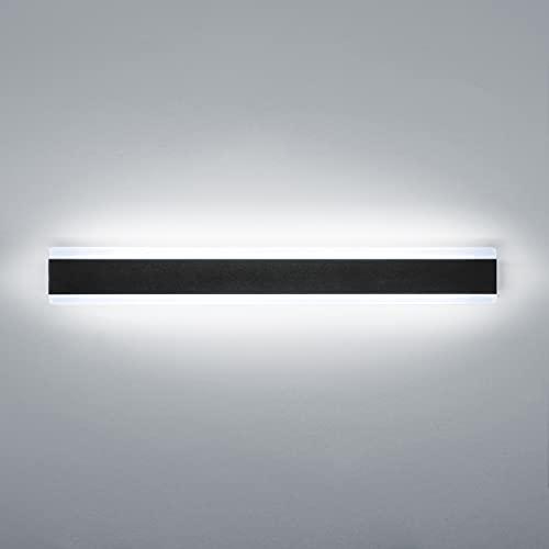Ritif LED Applique Murale extérieure 20W 6000K Blanc Froid Moderne Noire Étanche IP65 60cm Applique Lumineuse pour jardin terrasse garage