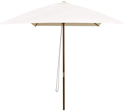 Dstervl Milky white mailbox garden parasol, ivory parasol garden beach umbrella polyester fiber, suitable for terrace/beach/pool/business