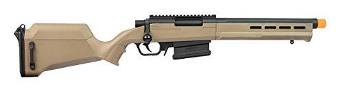 Elite Force Amoeba AS-02 Striker Rifle 6mm BB Sniper Rifle Airsoft Gun, Dark Earth Brown, One Size