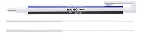 Tombow Penna cancellabile 'Mono Zero', punta tonda, bianco, Ehkur