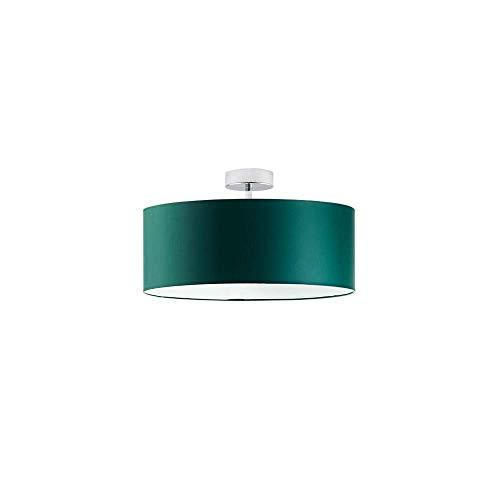 WENECJA fi - Lámpara de techo (30 cm), color verde botella, marco cromado