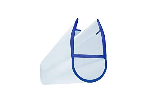 Duschdichtung Dichtprofil mit Lippe, Duschprofil Schiebetüren PVC Transparent | 200 cm I für 6 mm Glasstärke