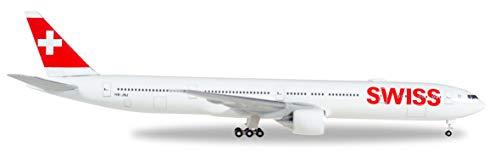 herpa 529136-002 Swiss International Air Lines Boeing 777-300ER, Wings/Flugzeug zum Sammeln, Mehrfarbig