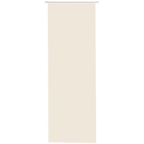 Bestlivings Flächen-Vorhang Blickdicht Schiebe-gardine Raumteiler Schiebe-Vorhang ca.60cm x 245cm, Auswahl: ohne Zubehör, beige - Creme