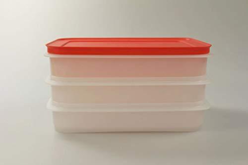 Tupperware Freeze n Fresh de 675ml Blanco Rojo 36766