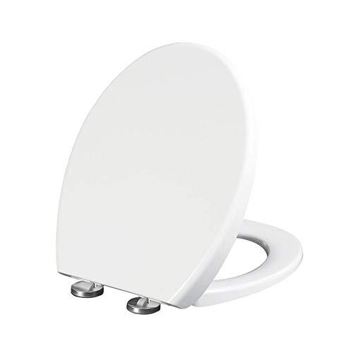 Mingstong Toilettensitz-Beige Nicht vergilbt weich geschlossenes WC Kratzfest