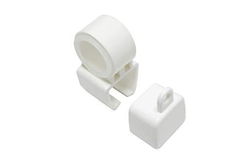 Gardinia Support pour Embouts et U-Rails en Blanc, 2 Jeux, Plastique, Non Applicable
