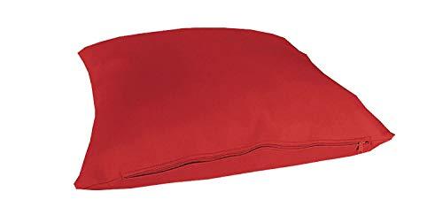 Trama Toscana Cuscino Ecopelle in 29 Colori cm 45x45 sfoderabile Completo di Imbottitura in Fiocco Anallergico Le Altre 2 Misure cm 60x60 e 30x60 Realizzabile Anche su Misura Variante 1117 Rosso
