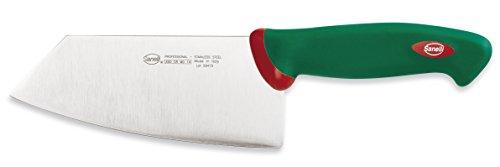 Sanelli Línea Premana Professional,Cuchillo Smile Cm.16,Acero Inoxidable,Verde y Rojo,29.0x3.0x7.5 cm