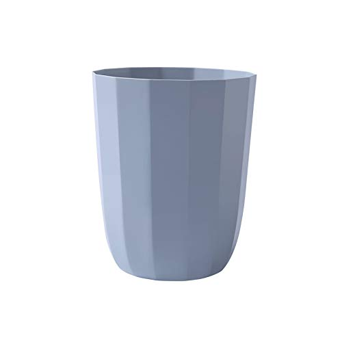 XVXFZEG Creativa poligonal de plástico grande bote de basura, Cuarto de baño azul bote de basura sin tapa, la basura Powder Room Oficina Cocina Caja de almacenamiento, conveniente for el hogar sala de