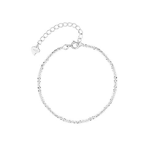 QIN Pulsera y Brazalete Ajustable de Plata Gypsophila para Mujer, joyería Fina de Moda, Regalo de Fiesta de Boda