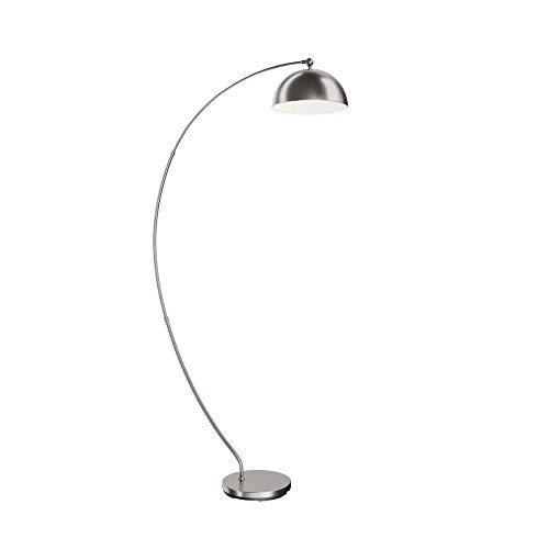 Lindby LED Stehlampe (Bogenleuchte) \'Zara\' dimmbar (Modern) in Alu aus Aluminium u.a. für Wohnzimmer & Esszimmer (1 flammig, A+, inkl. Leuchtmittel) - Bogenlampe, Stehleuchte, Floor Lamp