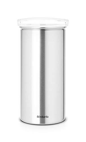 Brabantia Vorratsdose aus Edelstahl für Kaffeepads Senseo Deckel transparent