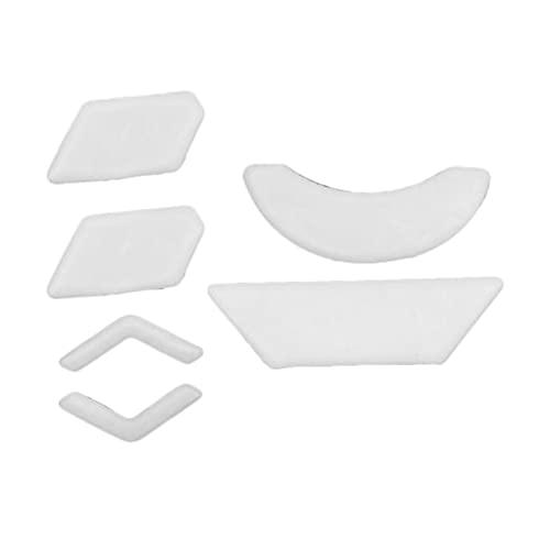 IPOTCH Almohadillas de ratón con Bordes curvos para reemplazo de Logitech G903 0,8mm de Espesor Deslizamiento Suave Blanco Puro PTFE tecnología de