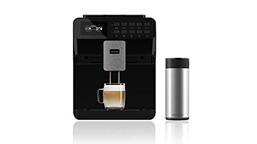 Cecotec Cafetera Automática Power Matic-ccino 7000 Serie Nera. Depósito de Leche, Pantalla digital, Café Personalizable, Tecnología ForceAroma 19 bares de presión, Bandeja calientatazas