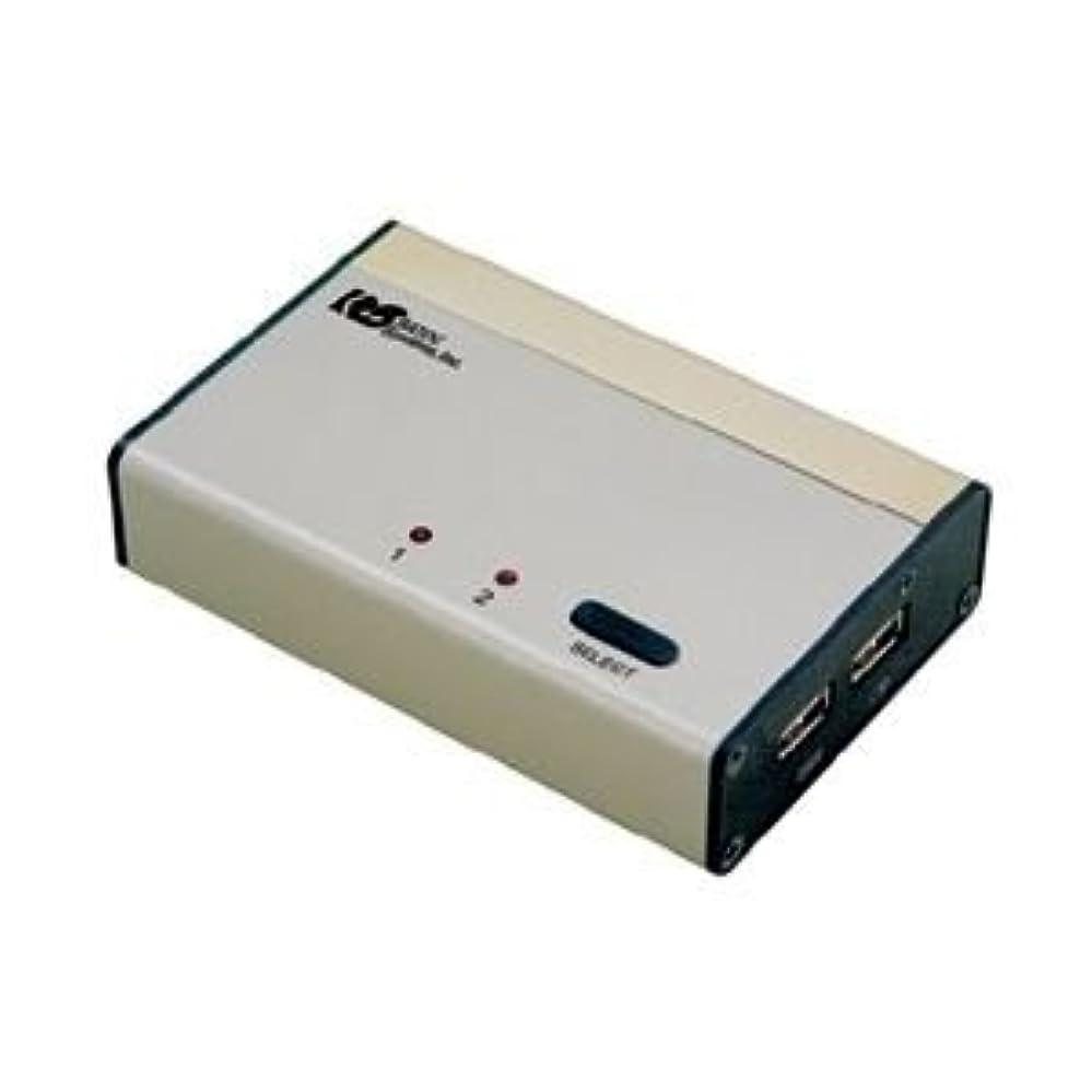いつも破壊的な拘束するラトックシステム パソコン自動切替器USB接続DVI?Audio対応(PC2台用) REX-230UDA 〈簡易梱包