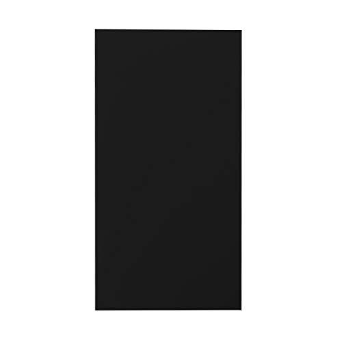 ZOOMY 10X20 cm Plexiglasplatte Farbige Acrylplatte DIY Spielzeug Zubehör Modellbau - Schwarz