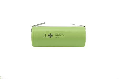 Ersatzakku WG® 1400mAh 1.2V 42x14mm kompatibel mit Braun Oral B elektrische Zahnbürste Typ 4729 3746 Trizone PRO 400 500 550 600 650 700 Professional Care 450 550 5000 5500 6000 6500 7000 7400 7500