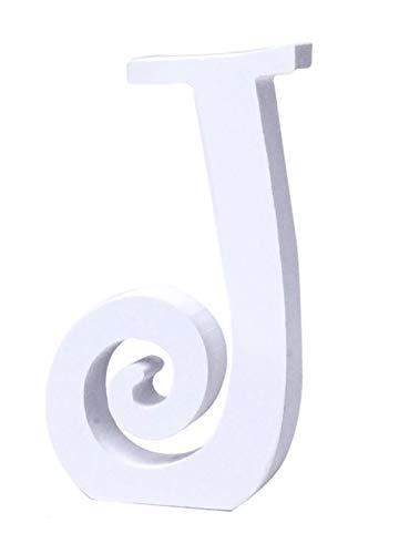 Letras y números de madera alfabeto para decoración 15cm - J
