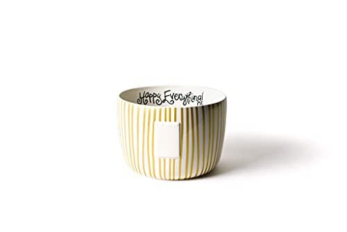Happy Everything! Decorative Big Bowl (Gold Stripe Big Bowl)