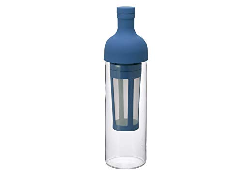HARIO FIC-70-EU | Eisteeflasche mit Filter | Hitzebeständig | 650 ml, 5 Tassen | Blau | Limitierte Auflage |