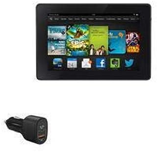 Carregador de carro para Kindle Fire HD 7 (3ª geração 2013), BoxWave [SwiftCharge PD QC4.0 Carregador para carro Plus (60 ...