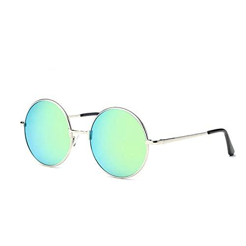KUNIUO Gafas De Sol Redondas De Moda Vintage Gafas De Sol De Diseñador para Hombres Y Mujeres Gafas De Sol para Mujeres Prince Optics Oculus De Sol Femin Oculos-C6