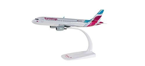 herpa 610674-001 Eurowings Airbus A320 in Miniatur zum Basteln Sammeln und als Geschenk, Mehrfarbig