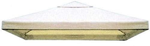 Megashopitalia Copertura Telo di Ricambio per Gazebo 3x3 MT Top con Airvent Cucito per Lo Sfiato Beige