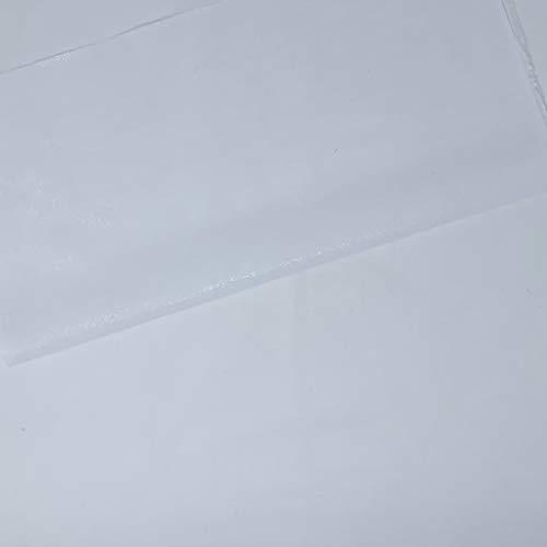 Entretela Termoadhesiva de una cara   Fliselina de Algodón   Para proyectos de costura o bordado   Color Blanco   100cm x 80cm   de Delicatela