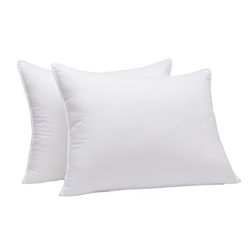 Amazon Basics Down-Alternative Pillows for Stomach and Back Sleepers - 2-Pack, Soft, King