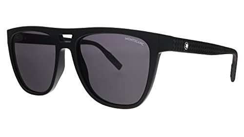 Montblanc gafas de sol MB0063S 001 Negro gris tamaño de 55 mm de Hombre