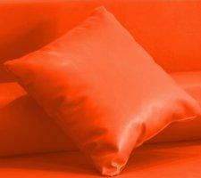 Cojín enfundado en Polipiel Náutico para Sofá Palet (Naranja)