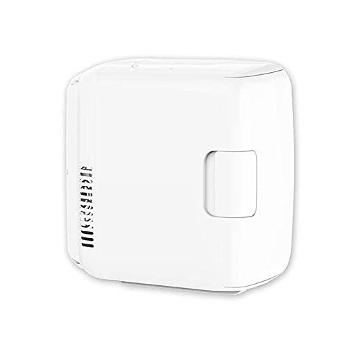 BAOZUPO Refrigerador Mini refrigerador eléctrico, Calentador termoeléctrico, silencioso, portátil, de bajo Consumo, Blanco, 8L