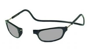 Reading Glasses Clic front connection Sun Readers Black-strength +2.50