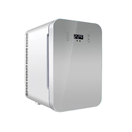 Mini-Frigoríficos Refrigeración y calefacción de Coche de Control Dual de Temperatura Dual refrigerador pequeño refrigerador pequeño Compacto portátil portátil para el hogar,Silver,38 * 32 * 26