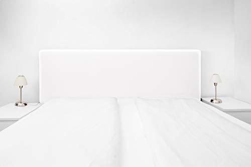 Achilles Berlin Boxspringbezug; Betthusse; Universal-Husse für das Kopfteil ihres Boxspringbetts (Größe 140-180 cm) (Weiss)
