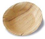 25 assiettes palmier creuses biodegradables 20 cm