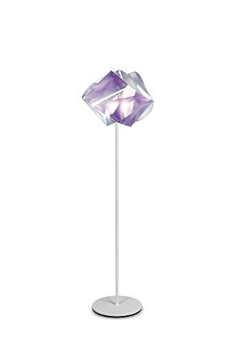 Gemmy Prisma Kunststoff Stehleuchte Slamp-Leuchten in Weiß Amethyst | Handgefertigt in Italien | Stehlampe Modern Dimmbar | Lampe E27