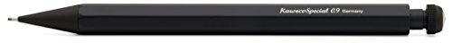 Kaweco SPECIAL S Druckbleistift 0.9 I Minenbleistift aus hochwertigem Aluminium in oktogonalem Acht Kant Format I Druckminenbleistift 10,5 cm I Druck-Bleistift nachfüllbar Schwarz mit Radiergummi